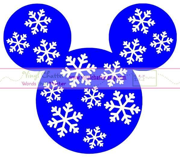 Personalized Snowflake MICKEY Mouse DIY Iron on Decal