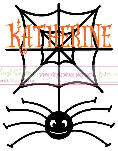 Personalized Spiderwed with Name OR Initial DIY Iron on Decal