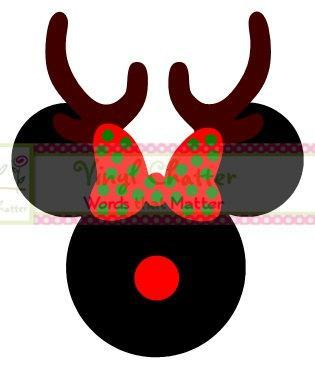 Personalized Reindeer Minnie Mouse DIY Iron on Decal