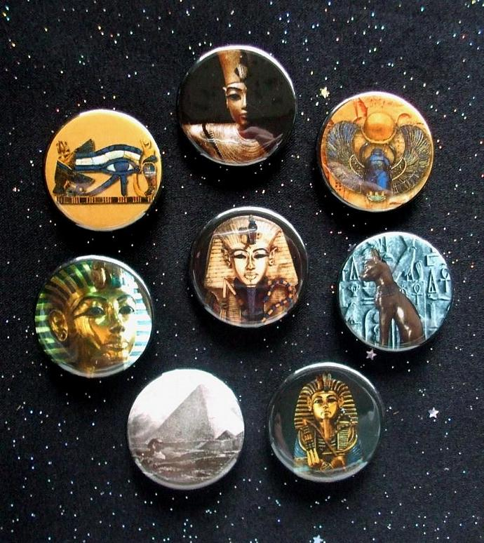 "Images of Ancient Egypt 1.25"" Magnets Set of 8"