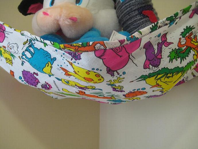 Neon Animals Toy Hammock - Teddy Bed - Size Medium