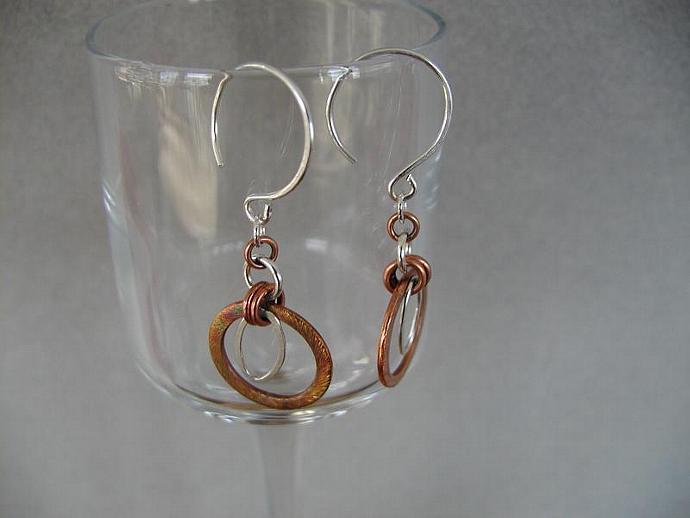 Copper/Silver Earrings