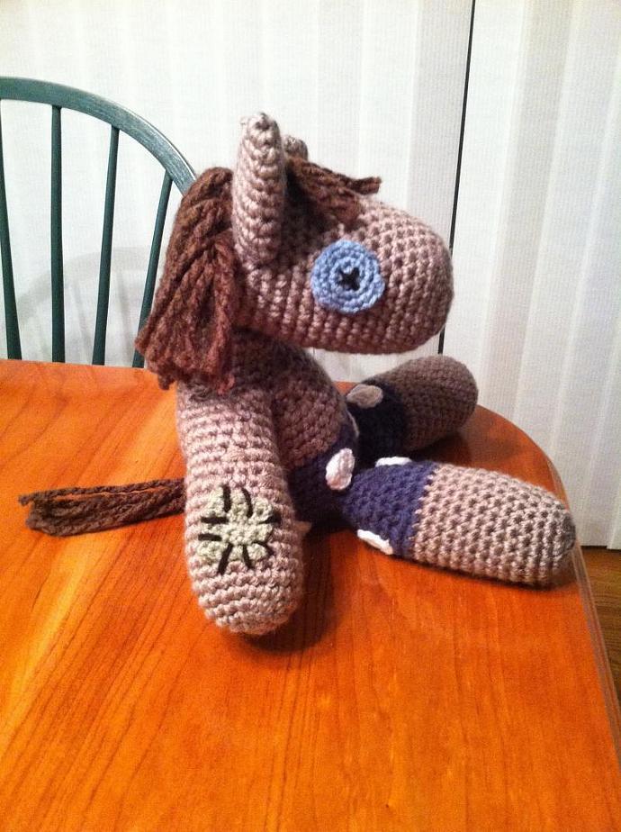 Smarty Pants Mlp Crochet Plush Doll By Heartinflight23 On Zibbet