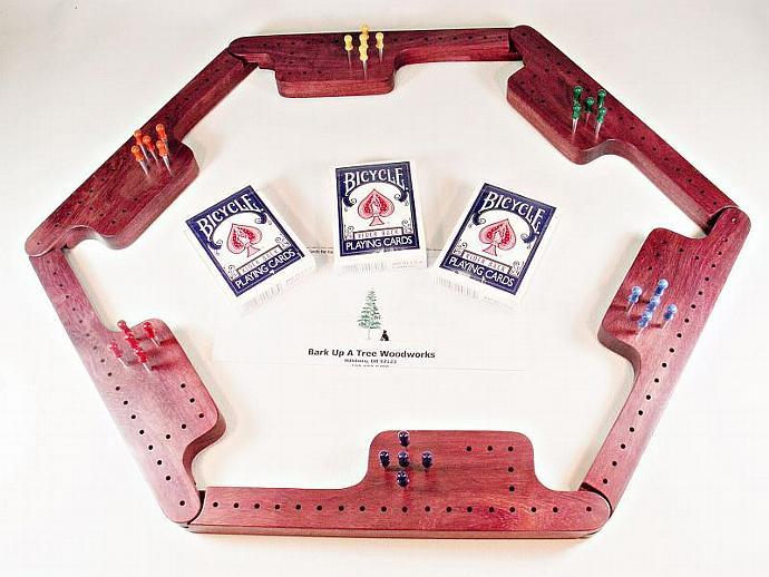 Pegs and Jokers Game Set - Purpleheart