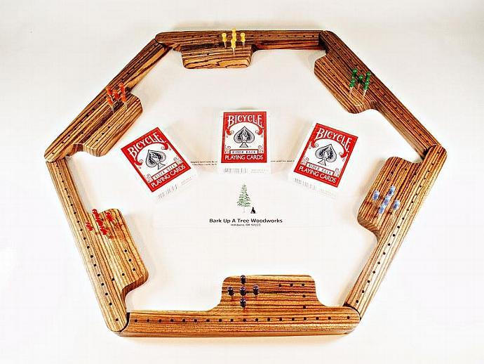 Pegs & Jokers Game Set - Zebrawood