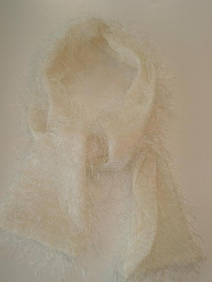 White Eyelash Scarf