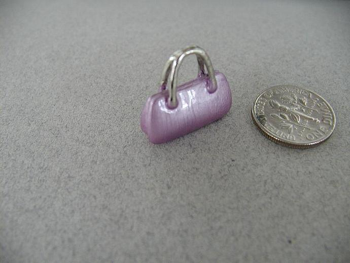 Enamel SS Purse Charm (Purple)