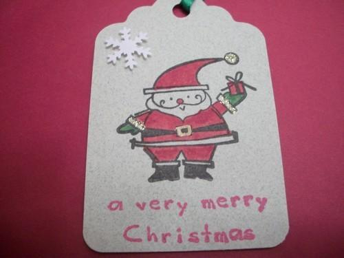 DOLLAR DAYS CHRISTMAS TAG SALE/ 3ct Santa To/From hang tags