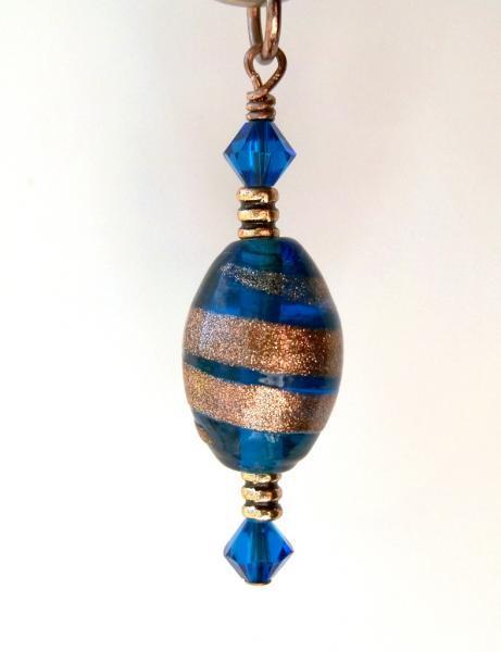 """Necklace Pendant -  """"Capri Blue"""""""