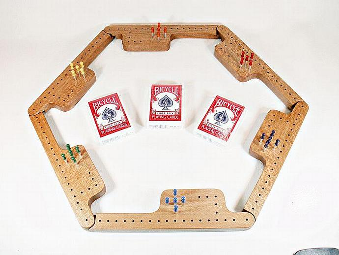 Pegs and Jokers Game Set - Quarter-Sawn Sycamore