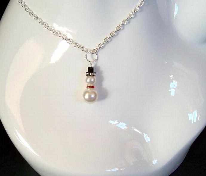 "Necklace Pendant -  ""Snowman"""