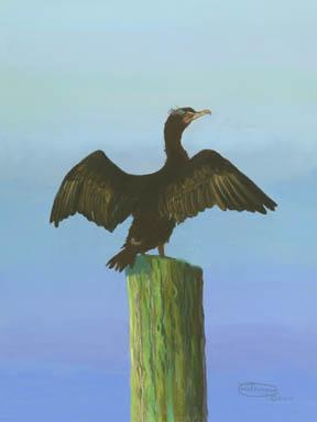 """""""Hanging Out"""" Giclee Paper Print by Carol Thompson"""