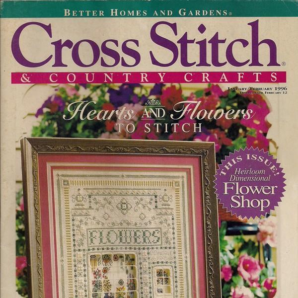Cross stitch and country crafts magazine by for Country living magazine cross stitch