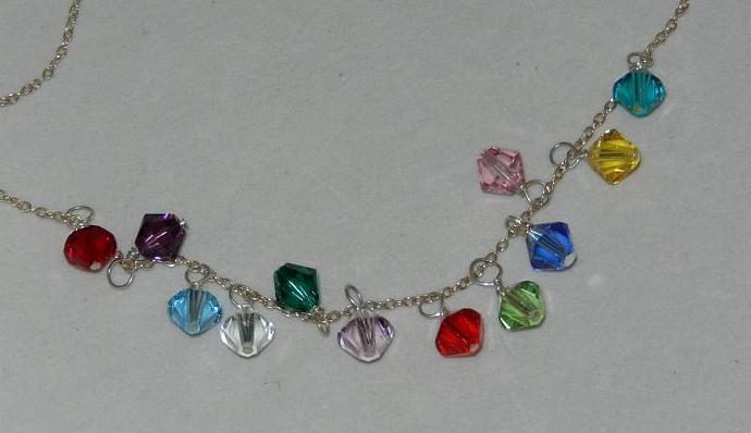 JULY - Charm; Swarovski Element Crystals, Handmade Charms