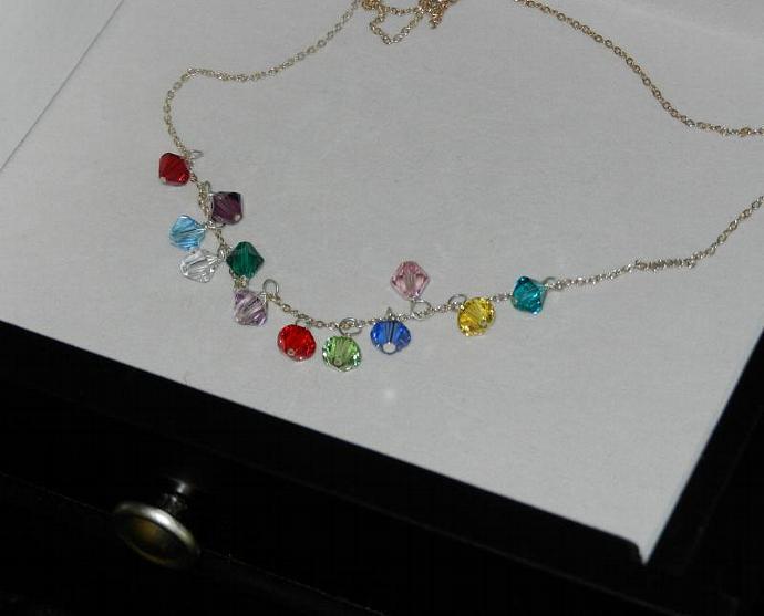 DECEMBER - Charm; Swarovski Element Crystals, Handmade Charms