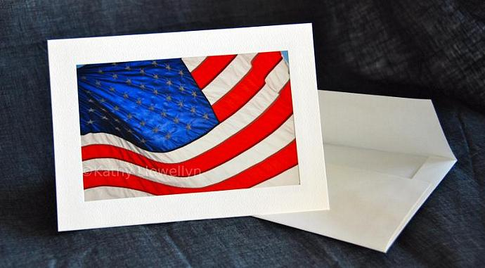 7cc85c40a9f5 Old Glory greeting card by BlueJacketArts on Zibbet