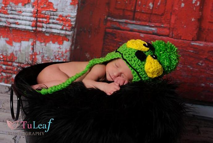 Crochet Grinch Hat - Newborn to Adult sizes