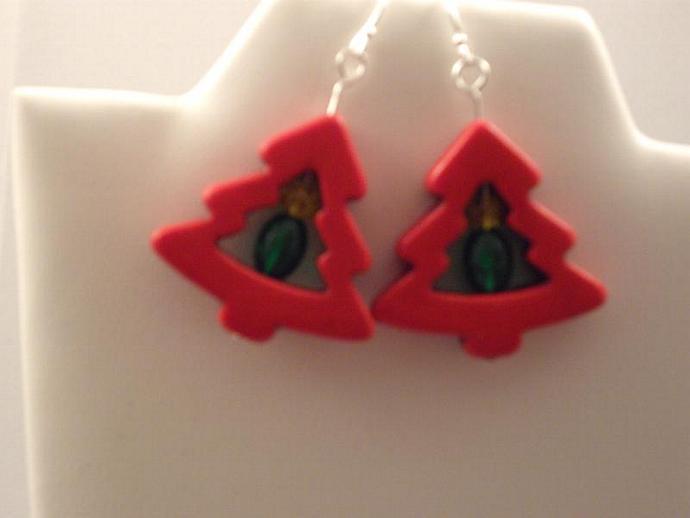 Howlite Christmas Earrings