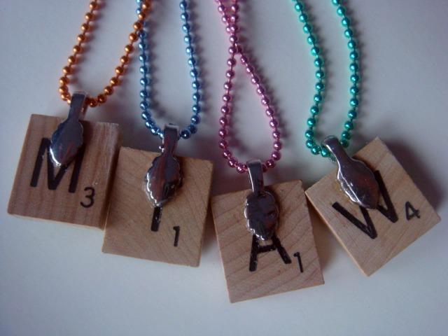 Square Red & Black Bismillah Scrabble Tile Pendanet Necklace
