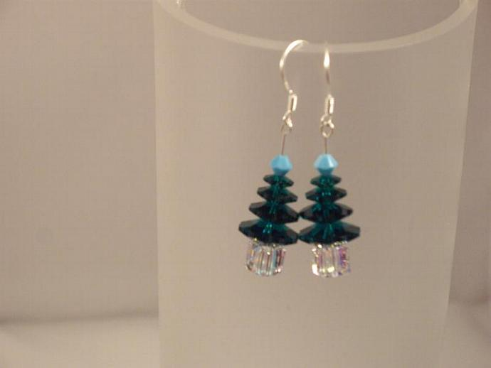 Swarovski Crystal Christmas Tree Earring