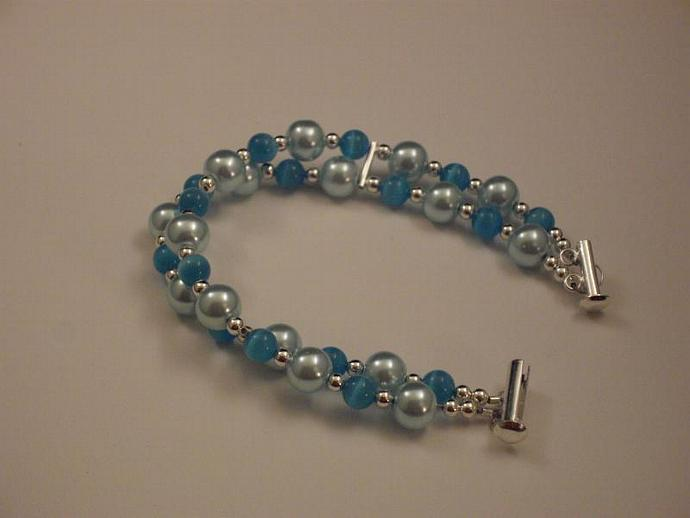 Cool Blue Two Strand Bracelet