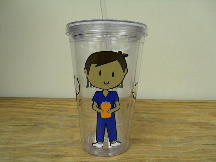 Acrylic  Double Wall Insulated Tumbler Female or Male Nurse or Nurses Assistant