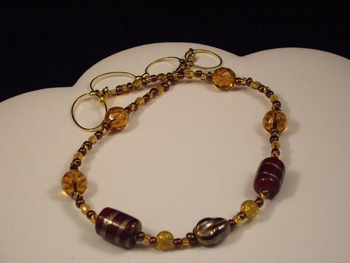 Chocolate and Gold Necklace