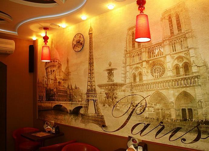 STICKER MURAL Paris vintage classic gold autumn wallpaper decole poster film