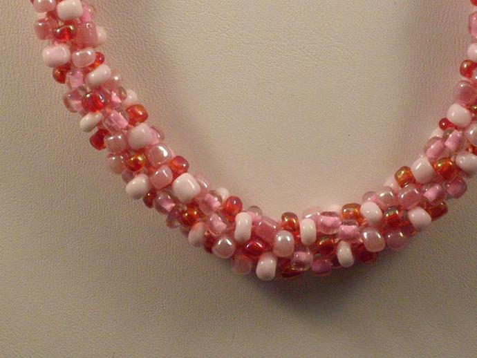 Shades of Pink Kumihimo Necklace