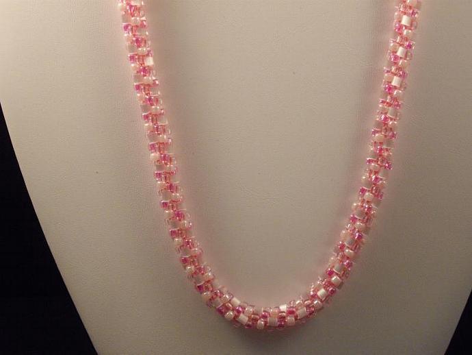 Pink Kumihimo Necklace
