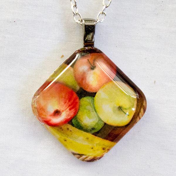 Banana And Apples (diamond shape) Pendant