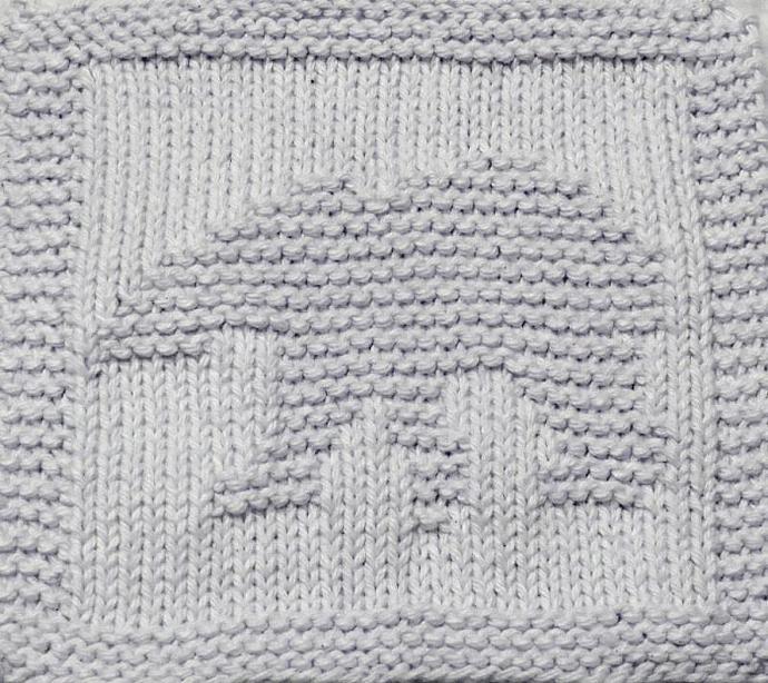 Knitting Cloth Pattern - POLAR BEAR - PDF
