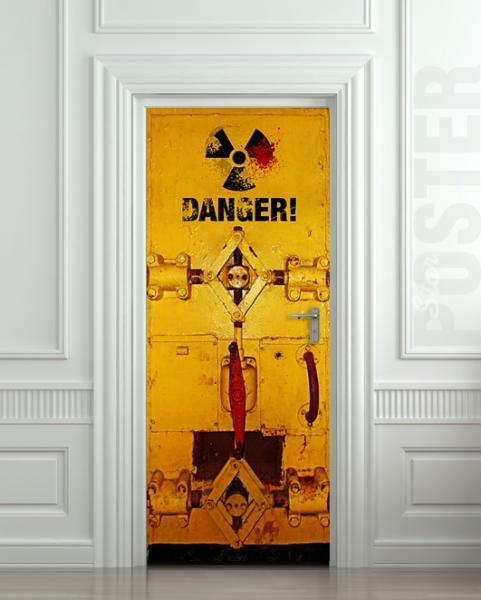 Door STICKER DANGER Radiation bunker mural decole film self-adhesive poster