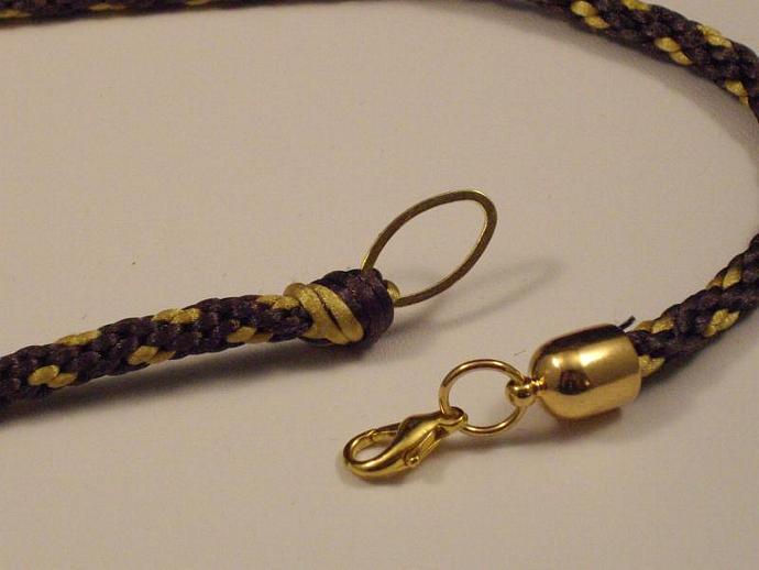 KumiCord and Amber Glass Pendant