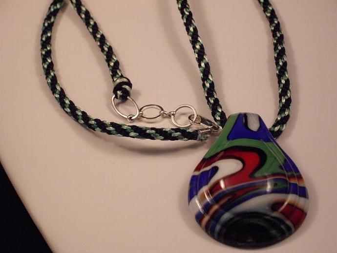 KumiCord and Glass Pendant