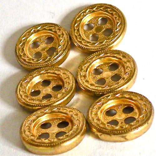 Little Golden Buttons - set of Seven - Vintage 80s