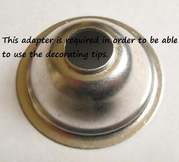 Wearever Cookie Press Decorating Tip - Vintage