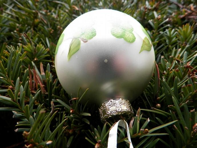Grapes on a Christmas Ball Ornament