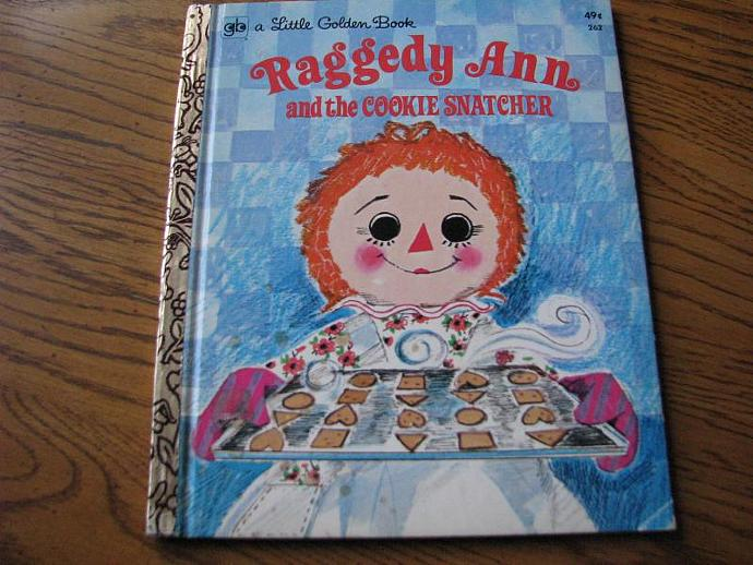 A Little Golden Book - Raggedy Ann and the Cookie Snatcher- By Barbara Shook