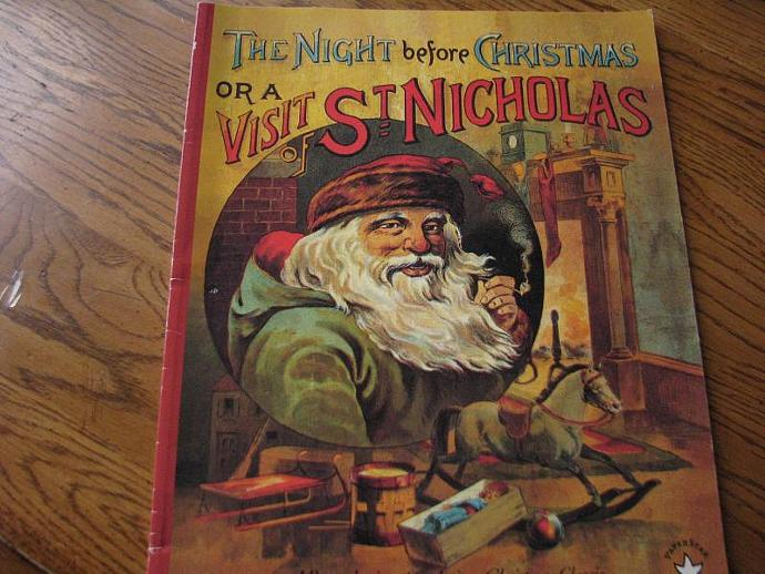 Christmas Lithographs -The Night Before Christmas or A Visit of Saint Nicholas -