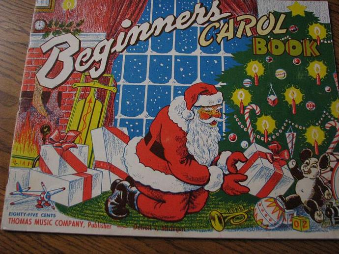 "Vintage "" Beginners Carol Book"" made by the Thomas Music Company in Detoit"