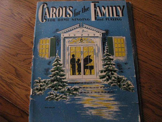 """Vintage Christmas Song Book"""" Carol for the Family"""" for home singing and playing-"""