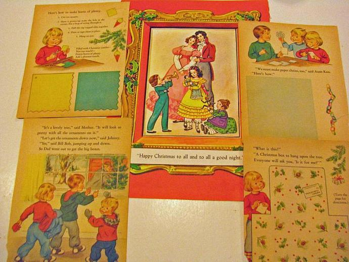 Vintage Christmas Pages from Christmas books for your December Daily,Christmas