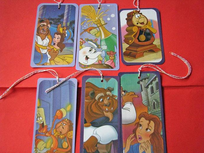 Beauty and the Beast Bookmarks-Set of 6 Bookmarks- Ready for your child's