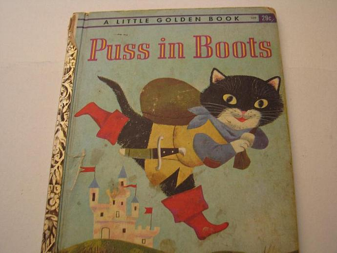 1959 A Little Golden Book- Puss In Boots- a great well-loved French Tale from