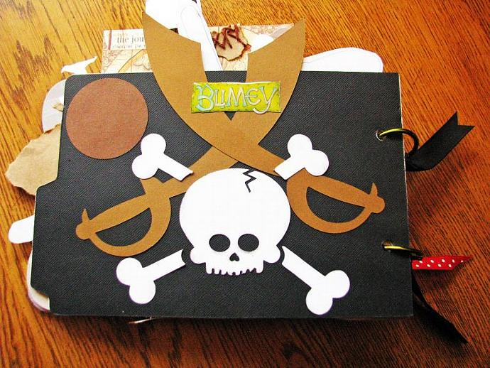 One of a Kind- The Cutest Mini Pirate Scrapbooking Album-One of a Kind- Made for