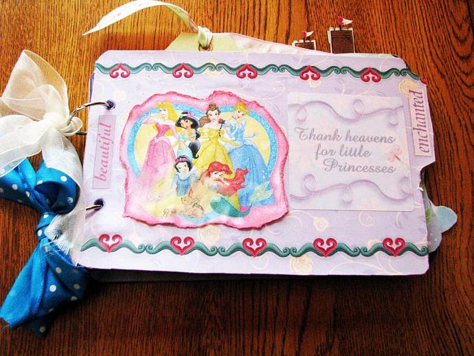 Most Enchanted Princess Mini Scrap booking or Autograph Album- Add pictures-or