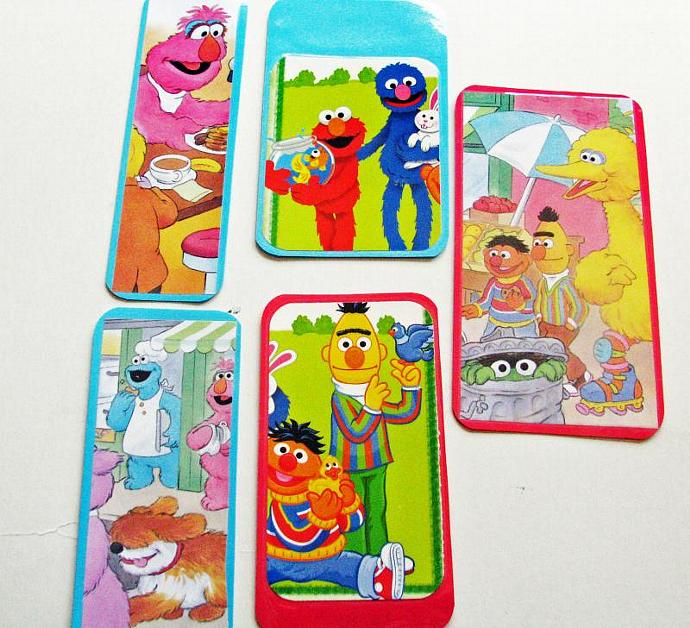 Sesame Street Bookmarks-A Set 5 Bookmarks- Ready for your Birthday Party as a