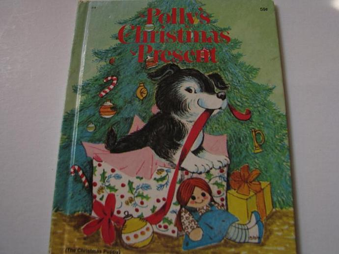 Polly's Christmas Present - The Christmas Puppy- by Irma Wilde 1978- Rare Wonder