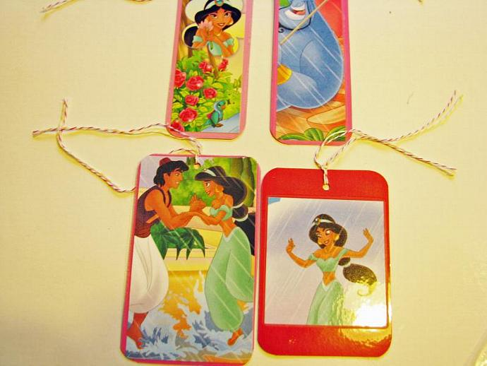 REDUCED Aladdin Princess- A Set of Princess Bookmarks- Ready for your child's
